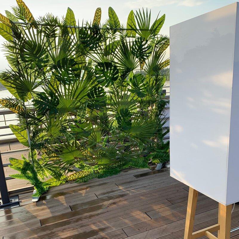 Najlepsza fotobudka - artystyczna ścianka z liści